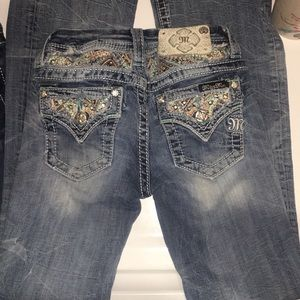 Youth size 10 boot cut Miss me jeans
